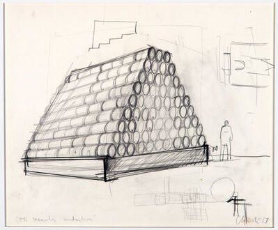 Christo, '441 Barrels construction', 1967