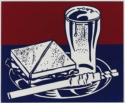 Roy Lichtenstein, 'Sandwich and Soda', 1965