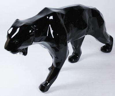 Richard Orlinski, 'Wild panther - black w/ bright teeths', 2013