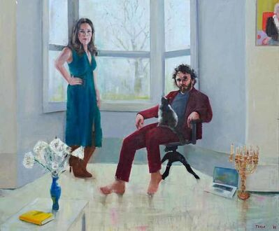 Richard Twose, 'Roger and Philippa After Hockney', 2018