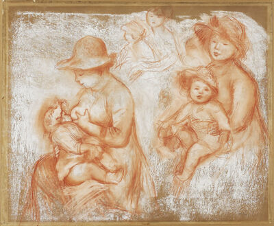 Pierre-Auguste Renoir, 'Studies for Mother and Child (Maternité)', ca. 1885