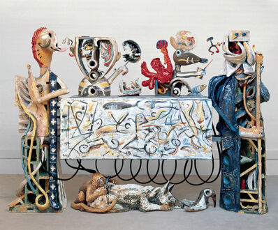 Robert Arneson, 'Guardians of the Secret II', 1989-1990