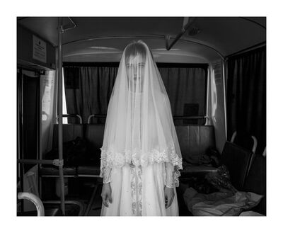 Davide Monteleone, 'Rada, 14, trying on a wedding dress designed by her sister … (Spasibo series)', 2013