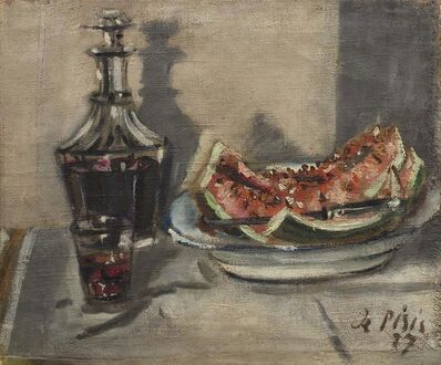 Filippo De Pisis, 'Still life with watermelon', executed in 1927