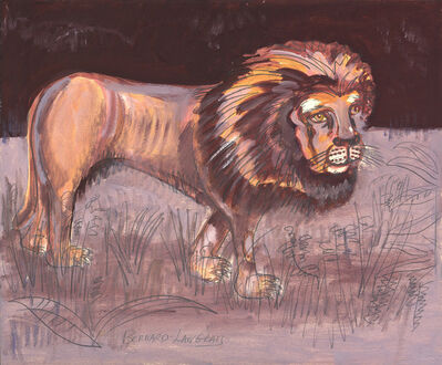 Bernard Langlais, 'Lion-Grey and Brown', 1970