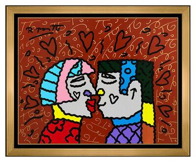 Romero Britto, 'Romero Britto Original Painting Acrylic On Board Signed Pop Art Modern Portraitv', 2010