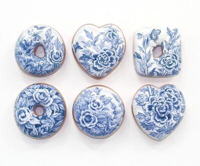 Jae Yong Kim, 'Blue and White Donuts (6)', 2019