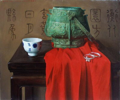 Weidong Wang, 'Still Life With Cup and Bronze Vessel', 2000