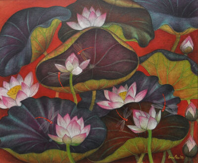 Bratin Khan, 'Lotus pond', 2013