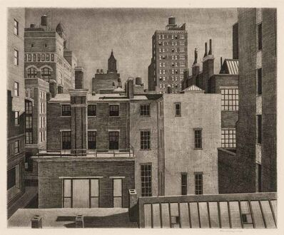 Armin Landeck, 'Washington Square Vista (K. 95)', 1945