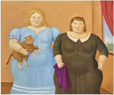 Fernando Botero, 'Two Sister', 2019