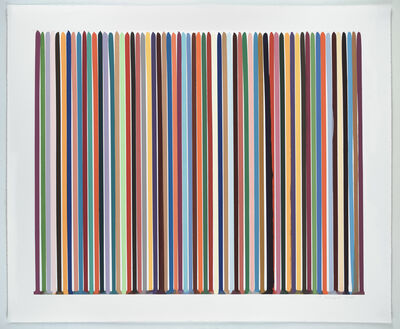 Ian Davenport, 'Etched Lines: Bright White', 2008