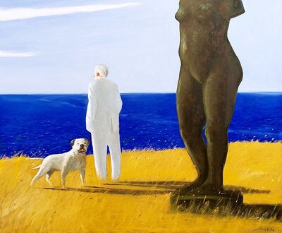 Julio Larraz, 'Homer at the Isle of Falconera', 2014