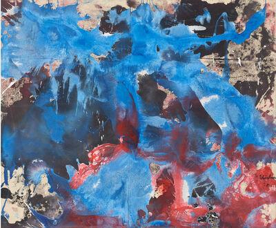 Fred Thieler, 'Im kristallinen Blau', 1998