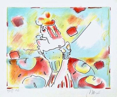 Peter Max, 'Composition Red & Green', 1980