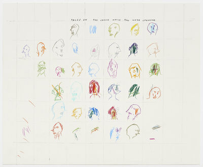 David Shrigley, 'Untitled (Faces in the crowd while you were speaking)', 2000