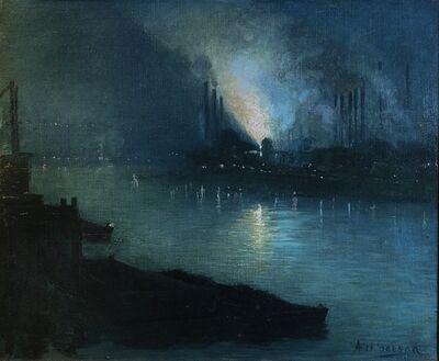 Aaron Harry Gorson, 'Pittsburgh Steel Mills at Night',