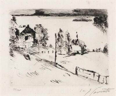 Lovis Corinth, 'WALCHENSEE MIT KAPELLE (MÜLLER 831)', 1923