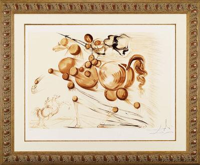 "Salvador Dalí, ' ""Spectral Horse""Hand Signed Salvador Dali Lithograph', 1941-1957"