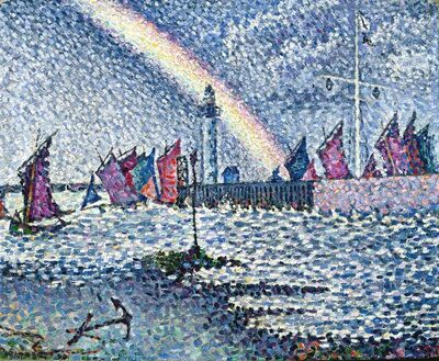 Paul Signac, 'Entrance To the Port of Honfleur', 1899