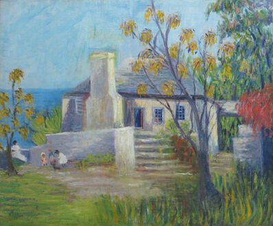 Annie Lovering Perot, 'An Old House, Bermuda'