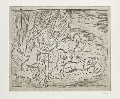 Leon Kossoff, 'From Poussin 'Cephalus and Aurora'', ca. 1990s