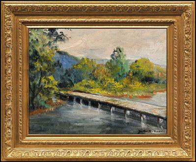 Jules René Hervé, 'JULES R. HERVE Original OIL PAINTING on BOARD Landscape Signed Framed Artwork', 20th Century