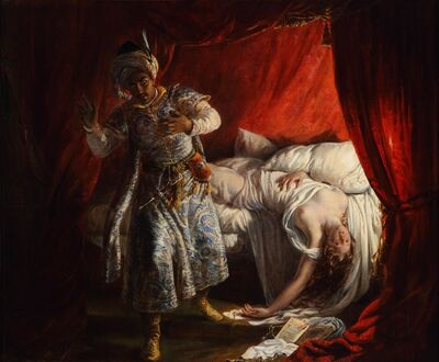 Alexandre Marie Colin, 'Othello and Desdemona', 1829