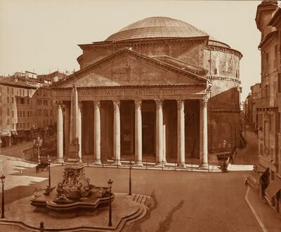 Unknown Artist, 'Acquedotto di Cladio and Roma: Pantheon (two photographs)'