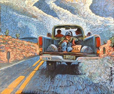 Shonto Begay, 'Northbound on Highway 195', 2018