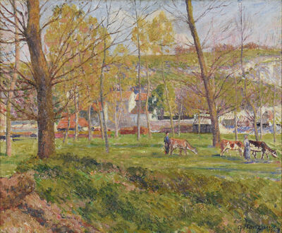 George Manzana-Pissarro, 'Un Paysage Pastoral', 1901