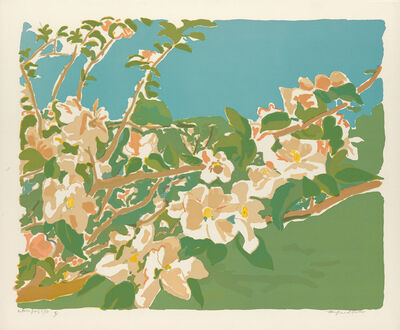 Fairfield Porter, 'Apple Blossoms II and III', 1974
