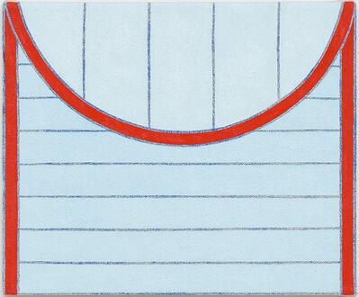 """Tessa Perutz, '""""Round Striped Envelope (Blue and Red)""""', 2015"""