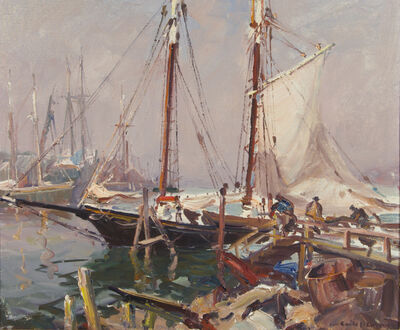 Emile Albert Gruppe, 'Drying the Sails', unknown