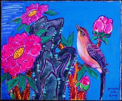 Kim Yongchul, 'Bird and Peony Blossom', 2003