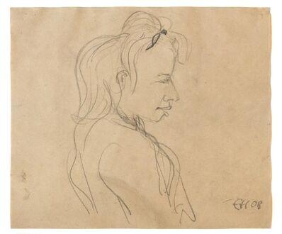Erich Heckel, 'Blondes Mädchen (Blond Girl)', 1908