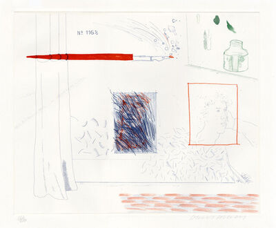 David Hockney, 'Etching is the Subject', 1976-1977