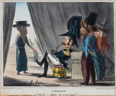 Honoré Daumier, 'A Buckarest ...c'est ici... entrez... on va vous payer!', 1864