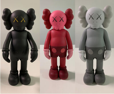 KAWS, 'Set of 3 Companion (Black, Grey & Blush)', 2016