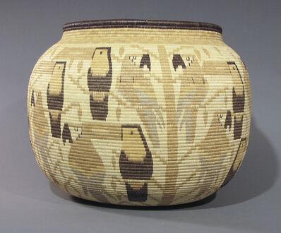 Panama Rainforest Basket Makers, 'Parrots & Toucans Basket', ca. 1996