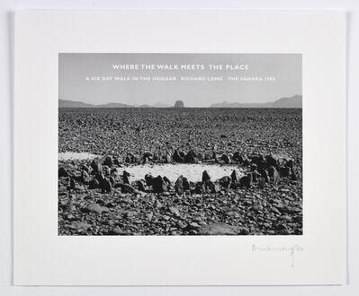 Richard Long, 'Where the Walk Meets the Place', 2015