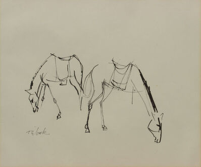 Louis Ribak, 'untitled - Two Horses', Unknown