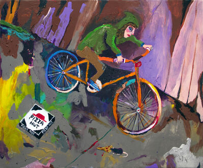 Huey Crowley, 'Night Bike Ride Ft. Pizza Rat', 2016