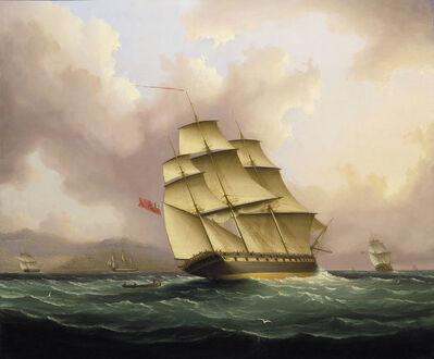 James E. Buttersworth, 'Off Barbados', ca. 1845