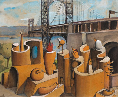 José Gurvich, 'Proyecto para Monumento IV con Puente', 1972