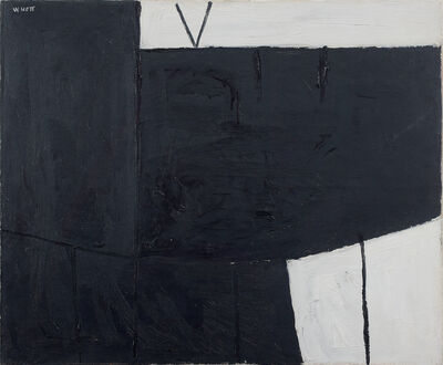 William Scott (1913-1989), 'Black & White Composition', 1953