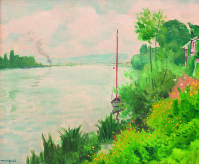 Albert Marquet, 'Bords de Seine à Triel', painted in 1931.