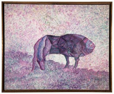 Simon Avissar, 'Surrealist Beast Oil painting French-Moroccan Israeli Bezalel School Painter', 20th Century