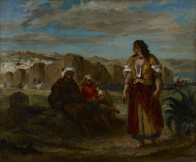 Eugène Delacroix, 'View of Tangier with Figures', 1853