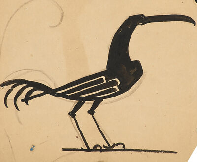 William Hunt Diederich, 'Six weathervane sketches with roosters, dogs, panther, and horse'
